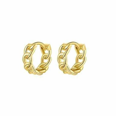 Chain Hoop Earrings - Kategory Jewelry