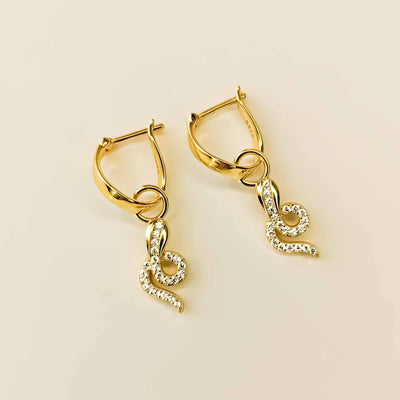 Snake Drop Earrings - Kategory Jewelry