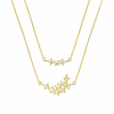 Stars Night Double Layer Necklace - Kategory Jewelry