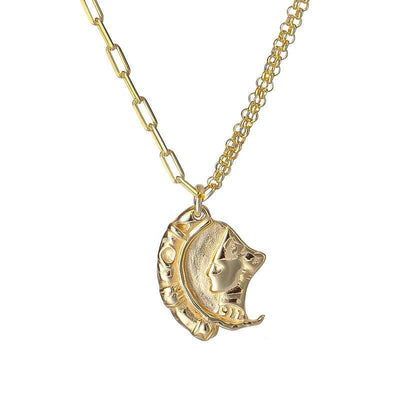 Ancient Moon Portrait Necklace - Kategory Jewelry