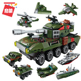 China Brand ENLIGHTEN Blocks Military Children's building block toys compatible with LEGO assembly military