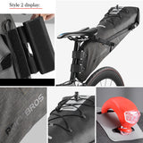 ROCKBROS Bike Bag Waterproof Reflective 10L Large Capacity Saddle Bag Cycling Foldable Tail Rear Bag MTB Road Trunk Bicycle Bag