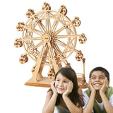 DIY 3D Laser Cutting Wooden Ferris Wheel Puzzle Game Gift for Children Kids Model Building Kits Popular Toy TG401