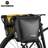 ROCKBROS Bicycle Bag Waterproof 10-18L Portable Bike Bag Pannier Rear Rack Tail Seat Trunk Pack Cycling MTB Bag Bike Accessories