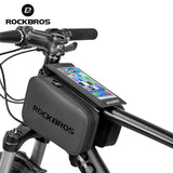 "ROCKBROS 2 IN 1 Cycling Bag Waterproof Touch Screen Bicycle Bag MTB Road Bike Top Tube Frame 6.0"" Screen Removable Phone Bags"