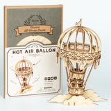 New Arrival DIY 3D Wooden Hot Air Ballon Model Building Kit Toy Gift for Children Friend TG406