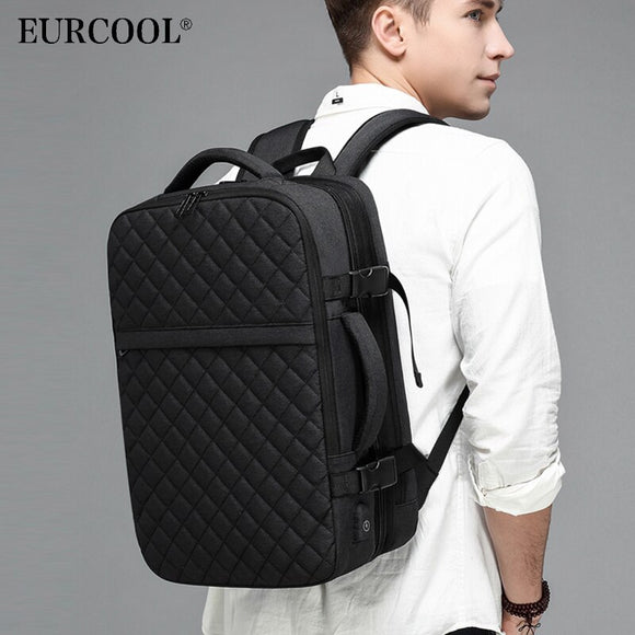 2020 NEW Travel Backpack Men Expandable 12cm Multifunctional Bag Fit 15.6 inch Laptop Backpacks Male Mochila n1811-X
