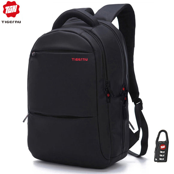Anti theft 20L Large Capacity 15.6 inch College Backpacks Men Black Backpack Female Women Mochila Laptop Bag15.6 17 inch