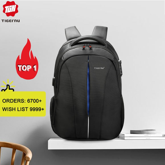 Splashproof 15.6inch Laptop Backpack NO Key TSA Anti Theft Men Backpack