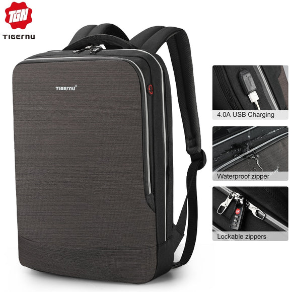 2020 New 4.0A USB Quick Charge Anti Theft Backpack Male 15.6 Laptop Business backpack
