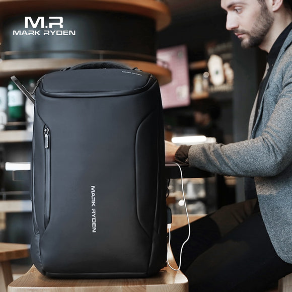 2020 New Anti-thief Fashion Men Backpack Multifunctional Waterproof 15.6 inch Laptop Bag Man USB Charging TravelMark Ryden Bag