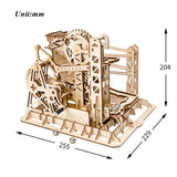 DIY Lift Coaster Magic Creative Marble Run Game Wooden Model Building Kits Assembly Toy Gift for Children Adult LG503
