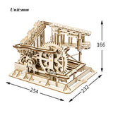 DIY Cog Coaster Magic Creative Marble Run Game Wooden Model Building Kits Assembly Toy Gift for Children Adult LG502