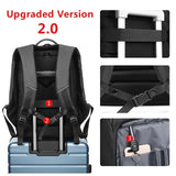 17 inch Laptop Backpack For Men Water Repellent Functional Rucksack with USB Charging Port Travel Backpacks Male n1755