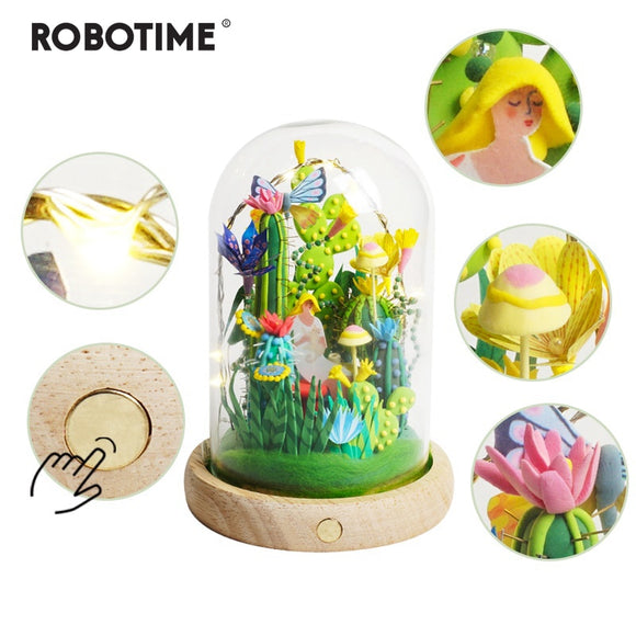 4 Kinds Modeling Clay With Led&Glass Box Colorful Polymer Creative DIY Clay Creative Toy Gift for Children Adult  DC