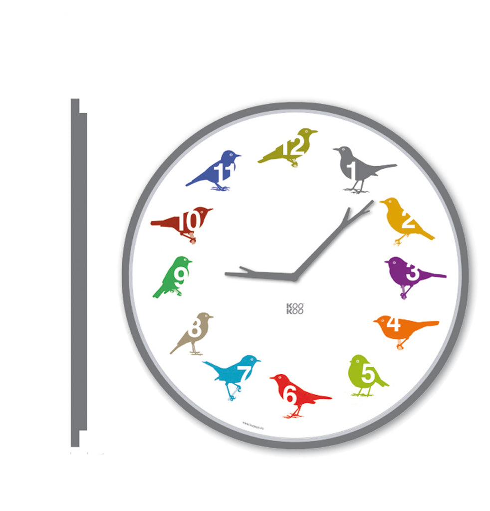 KOOKOO UltraFlat, modern designed bird clock