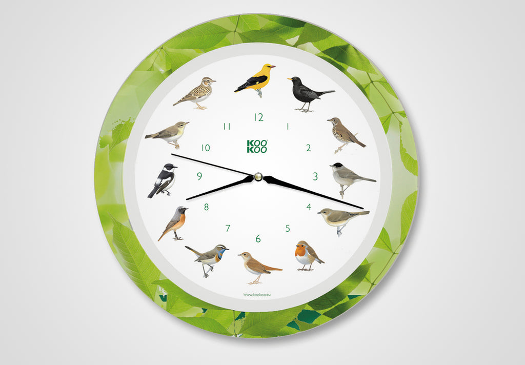 KOOKOO Singvögel, the singing songbird wall clock