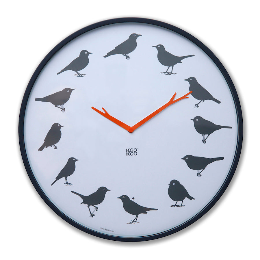 KOOKOO UltraFlat modern designed bird clock