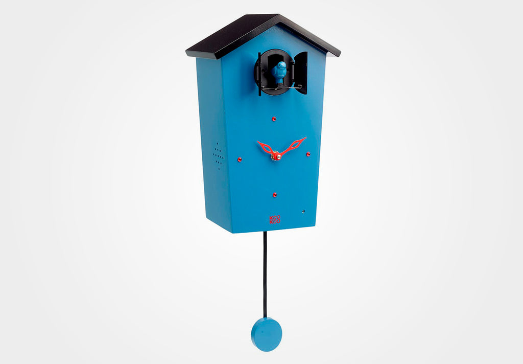KOOKOO BirdHouse, modern design wall clock with cuckoo or 12 natural bird voices (field recordings)
