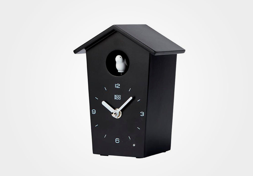 KOOKOO BirdHouse mini, wall clock with 12 natural bird field recordings or cuckoo