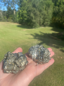 Small Pyrite cube cluster - two pieces