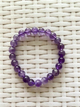 Load image into Gallery viewer, Amethyst bead bracelet - warm purple colour