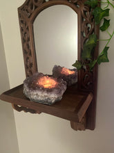Load image into Gallery viewer, Amethyst Crystal Candle Holder, home décor