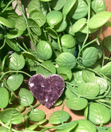 Amethyst crystal heart