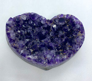 Amethyst Crystal love heart
