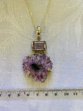 Load image into Gallery viewer, Amethyst pendant set in sterling silver - necklace