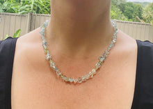 Load image into Gallery viewer, Aquamarine bead necklace