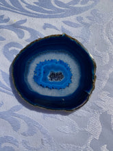 Load image into Gallery viewer, v\Blue polished Agate Slice drink coasters - set of 4 BCMD020