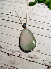 Load image into Gallery viewer, Burmese Jade Stirling silver pendant - necklace