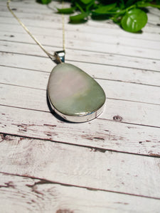 Burmese Jade Stirling silver pendant - necklace