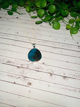 Load image into Gallery viewer, Chrysocolla pendant set in sterling silver - necklace