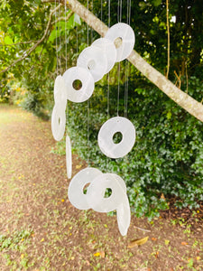 Circle Onyx windchime, home or patio decor