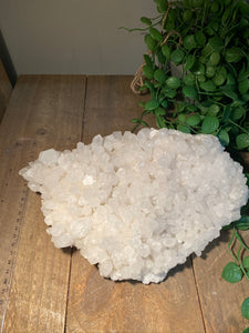 Clear Quartz Crystal Cluster - home décor and table display