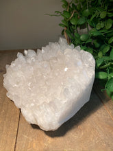 Load image into Gallery viewer, Clear Quartz Crystal Cluster - home décor and table display