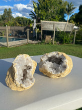 Load image into Gallery viewer, Clear Quartz crystal geode - home décor and table display 13