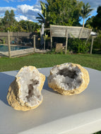 Clear Quartz crystal geode - home décor and table display 13