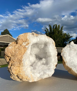 Clear Quartz crystal geode - home décor and table display 15