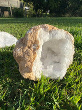 Load image into Gallery viewer, Clear Quartz crystal geode - home décor and table display 15