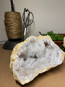 Clear Quartz crystal geode - home décor and table display 16
