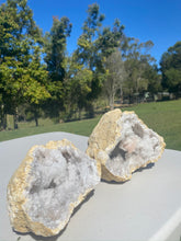 Load image into Gallery viewer, Clear Quartz crystal geode - home décor and table display 16
