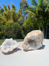 Load image into Gallery viewer, Clear Quartz crystal geode - home décor and table display 19