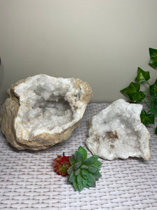 Clear Quartz crystal geode - home décor and table display 19