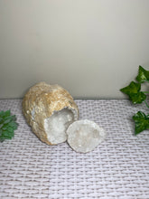 Load image into Gallery viewer, Clear Quartz crystal geode - home décor and table display 20
