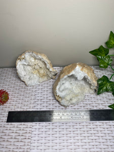 Clear Quartz crystal geode - home décor and table display 21