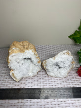 Load image into Gallery viewer, Clear Quartz crystal geode - home décor and table display 23