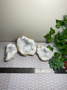 Clear Quartz crystal geode - home décor and table display